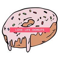 חולצת טי - Love.Life.Donuts