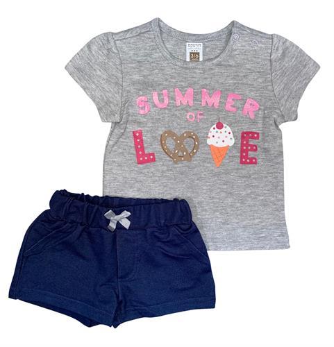 חליפה אהבת קיץ אפור מלאנג