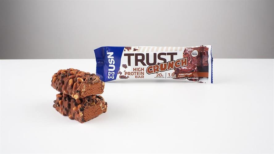 USN Trust Crunch Protein חטיפי חלבון קראנצ'י שוקולד בראווינז