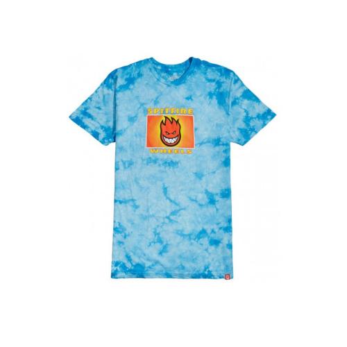 Spitfire Label T-Shirt Blue Crystal Wash