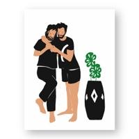 """זוג גברים מפגין חיבה זה לזה - מתוך """"החיים יפים"""", הסדרה האופטימית"""