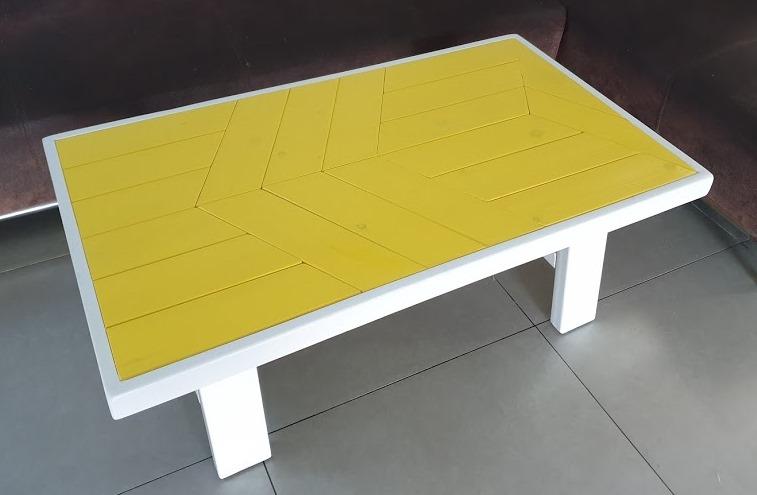 שולחן סלוני עץ מלא דגם זויות