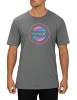 HURLEY  CIRCLE DYE LOGO T-SHIRT- GREY