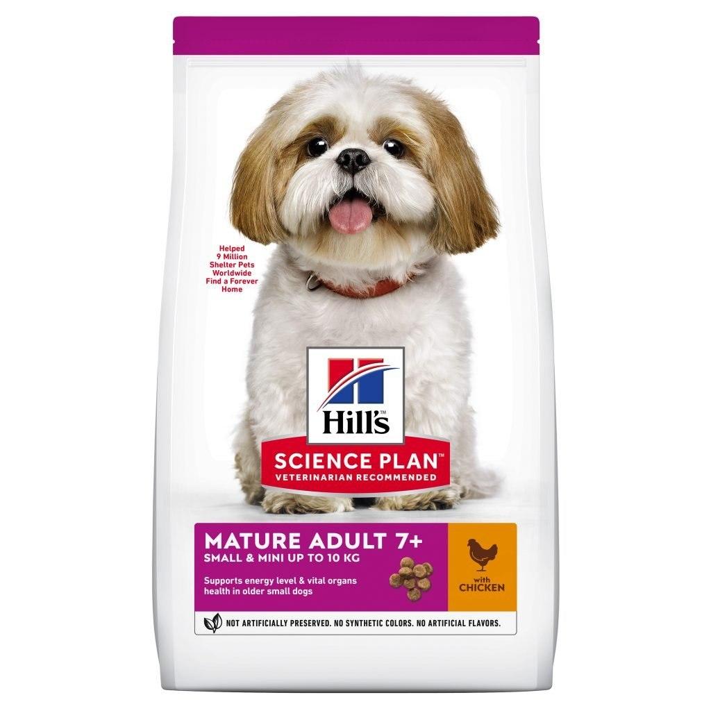 """מזון לכלבים מבוגרים מגזע קטן 7+ הילס סיינס פלאן עוף 3 ק""""ג"""