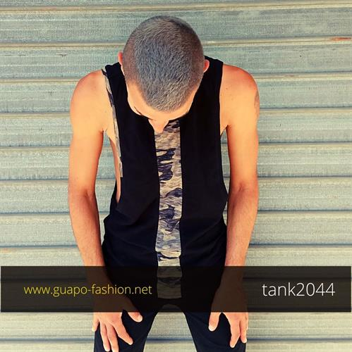 army style sleeveless top
