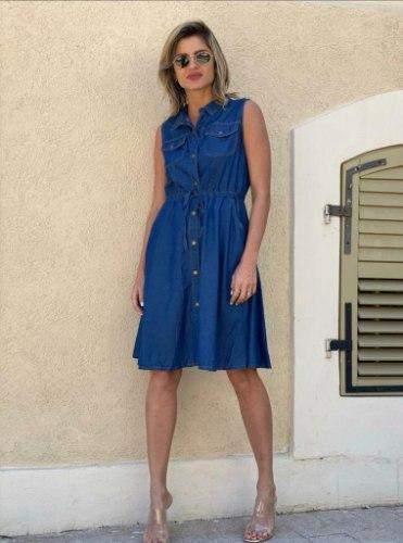 שמלת ג'ינס קשירה ALMHA