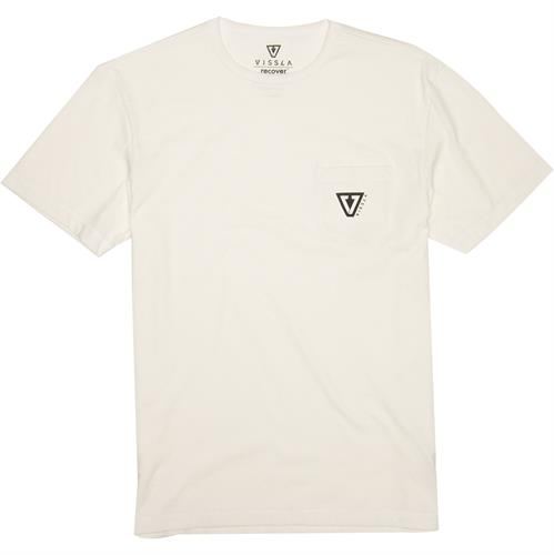 Vissla Established Upcycled Pocket Tee - Bone