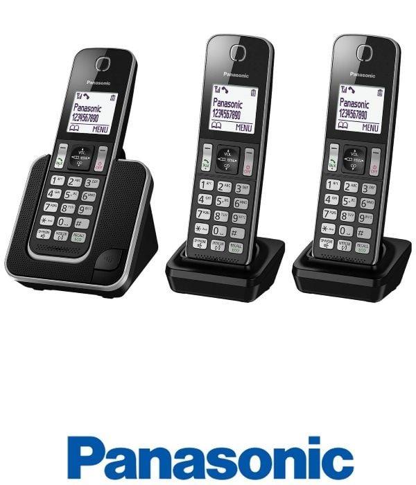Panasonic טלפון אלחוטי + 2 שלוחות דגם KXTGD313MBB