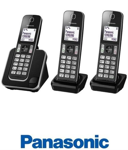 Panasonic טלפון אלחוטי + 2 שלוחות דגם KX-TGD313MBB