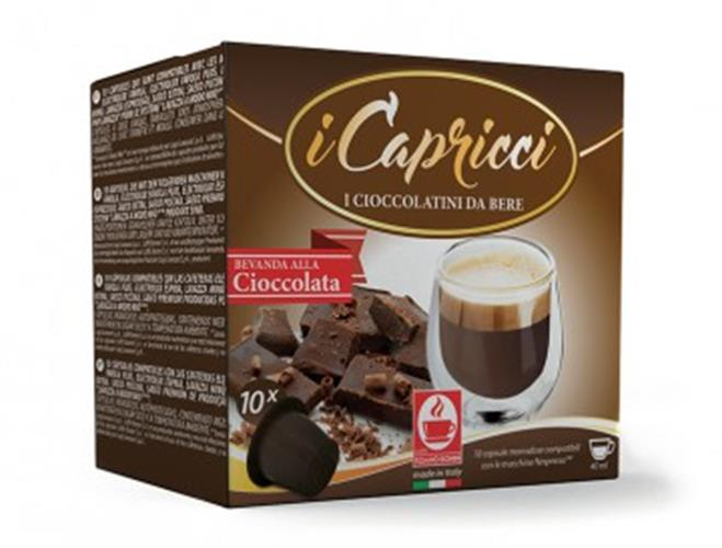 10 קפסולות קפה בוניני שוקו קפריצי תואם נספרסו