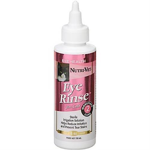 """נוזל לניקוי עיניים לחתול 118 מ""""ל (nutri vet)"""