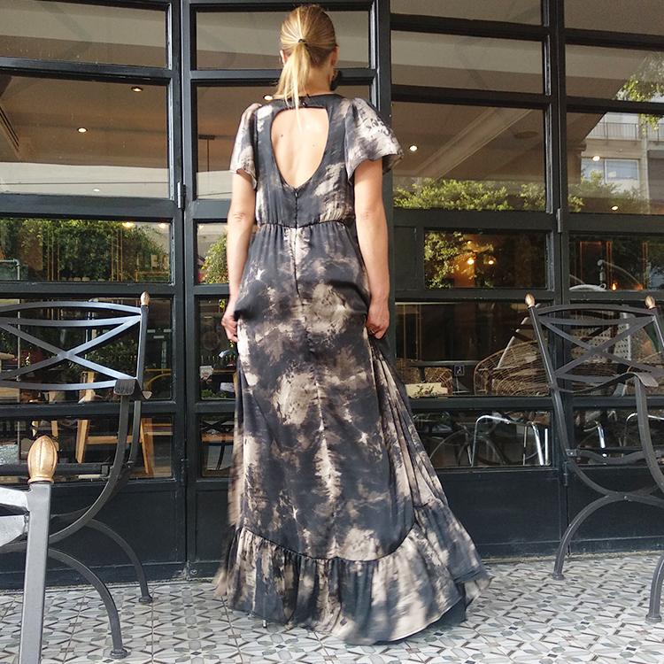 שמלת רטרו משי בוהו