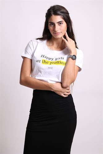 Happy girls are the prettiest. - Tshirt