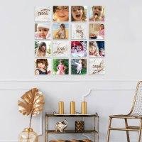 קולאז' תמונות | קולאז' תמונות קאפה לבחירה | עיצוב תמונות לקיר משפחה | אבן בנגיעות ברונזה