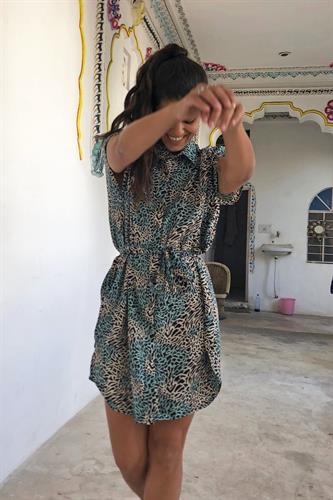 שמלת קייט מנומרת