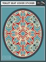 עיצוב איזור האסלה – מדבקה (39 ₪) שטיחון (88 ₪) סט (119 ₪) אליזבת TIVA DESIGN