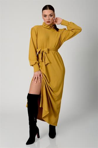 שמלת ערב סלין חרדל
