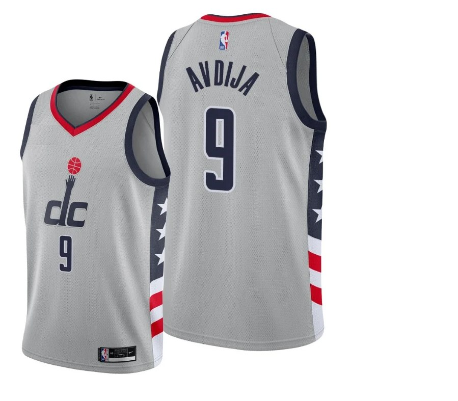 גופיית NBA וושינגטון וויזארדס אפור בהיר - דני אבדיה DENI AVDIJA