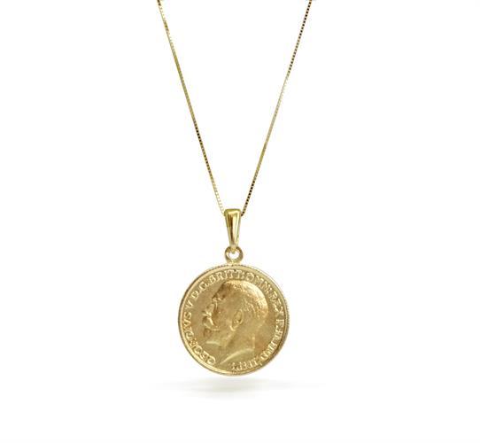 תליון ושרשרת זהב מטבע │ שרשרת מטבע