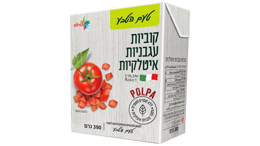 קוביות עגבניות איטלקיות 390 גרם - טעם הטבע ״שטראוס״