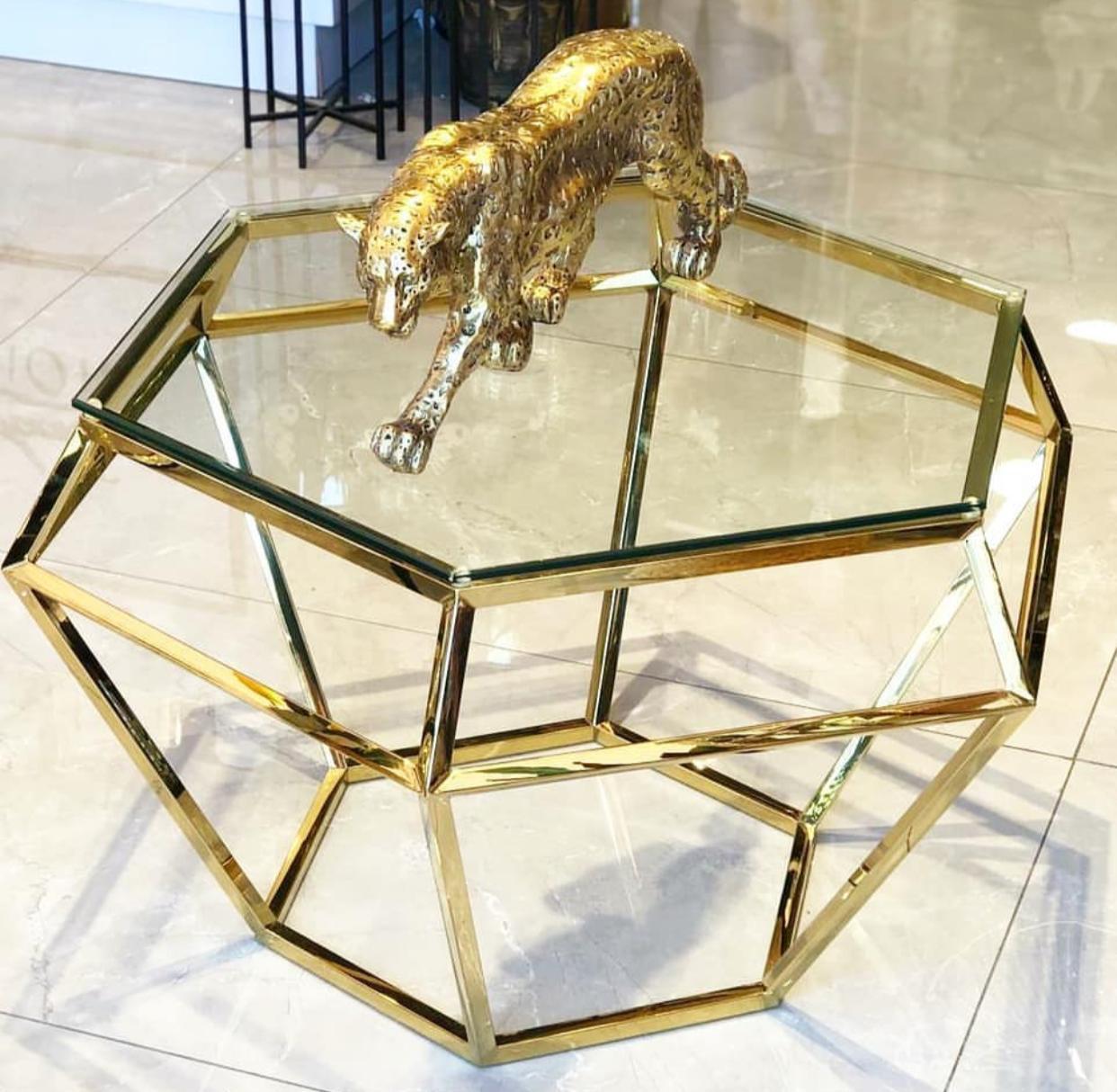 שולחן סלון זהב