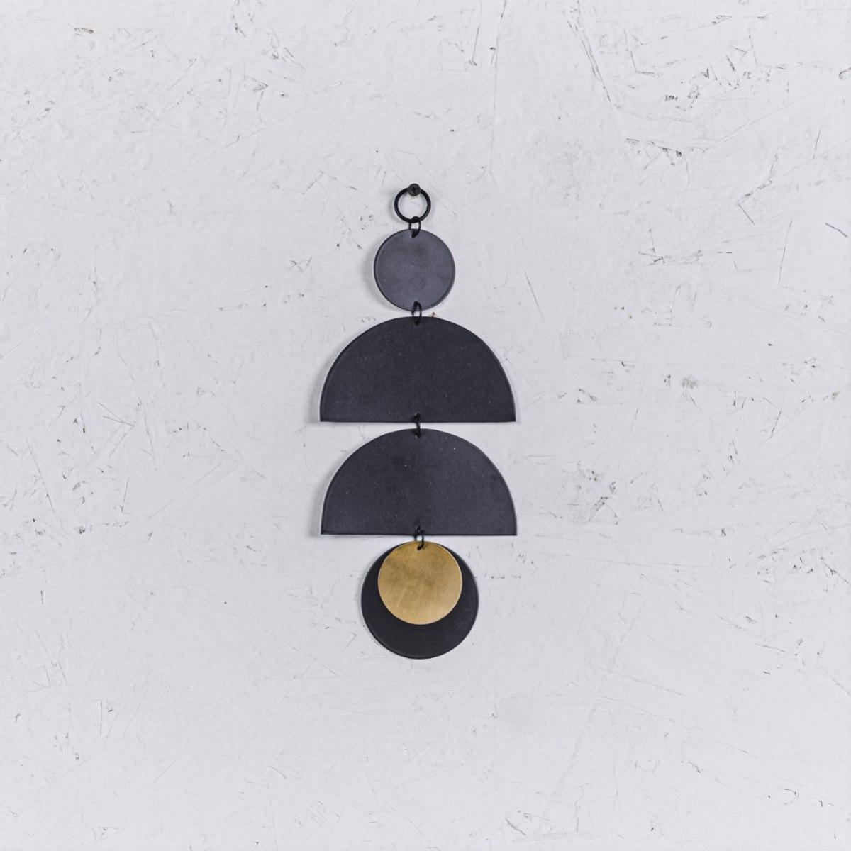 קישוט מתכת לקיר - 3 קשתות (שחור)