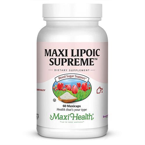 -- Maxi Lipoic Supreme™ חומצה אלפא ליפואית בתוספת כולין -- 60 כמוסות Maxi Health