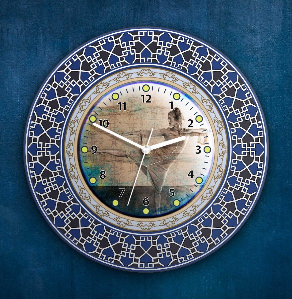 שעון קיר מעוצב, זכוכית אקרילית, דגם 2034  TIVA DESIGN