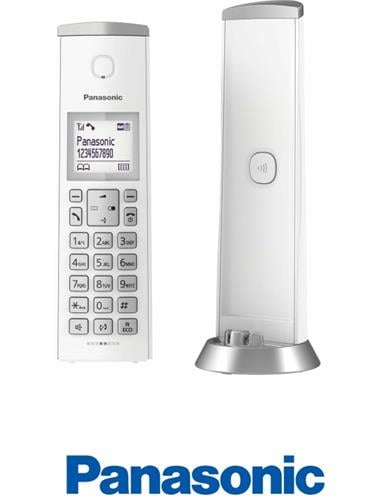 Panasonic טלפון אלחוטי מעוצב לבן דגם KX-TGK210MBW