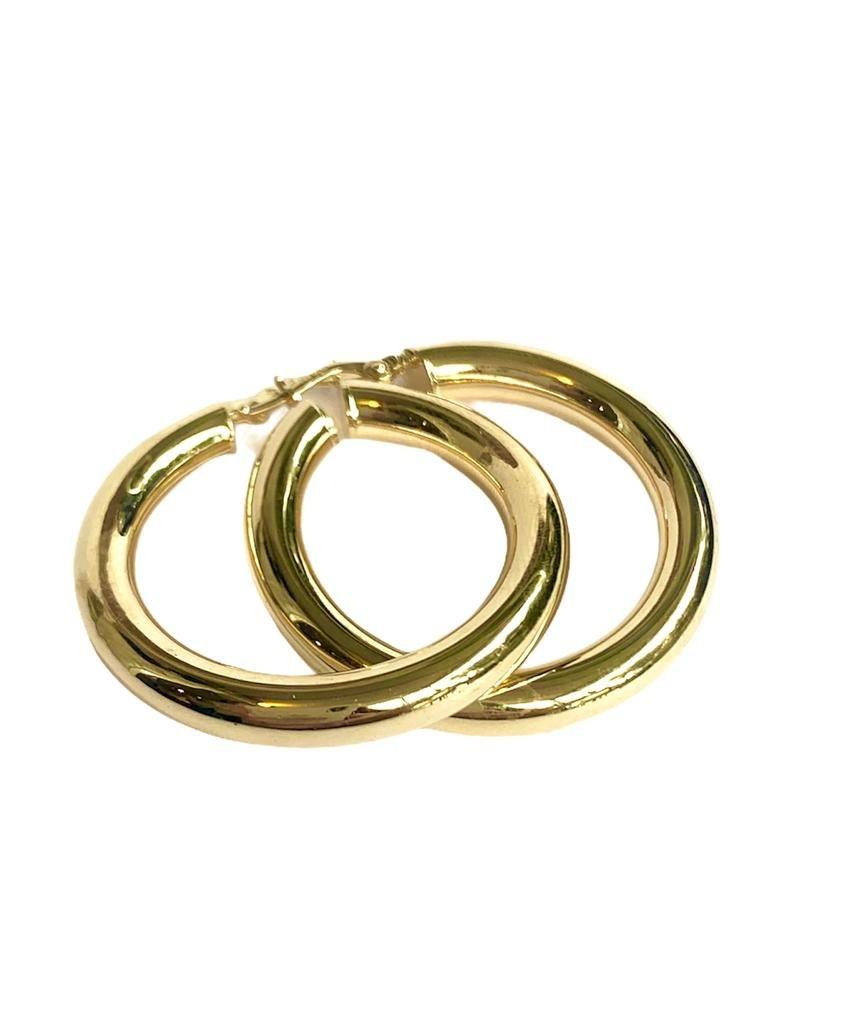 עגילי חישוק עבה XL זהב 14K
