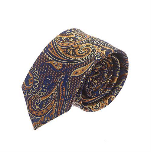 עניבה פייזלי כחול זהב