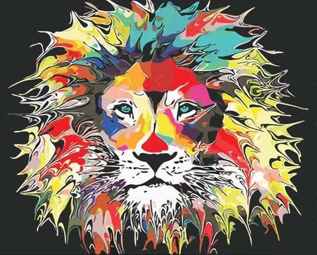 צביעה לפי מספרים - אריה אקוורל