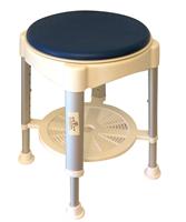 כסא מקלחת עם מושב מרופד מסתובב