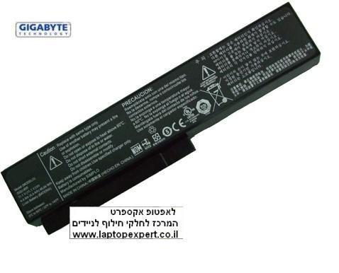 סוללה למחשב נייד ג'יגהבייט 6 תאים Gigabyte Q1580L Notebook Battery 6 Cell 3UR18650-2-T0187