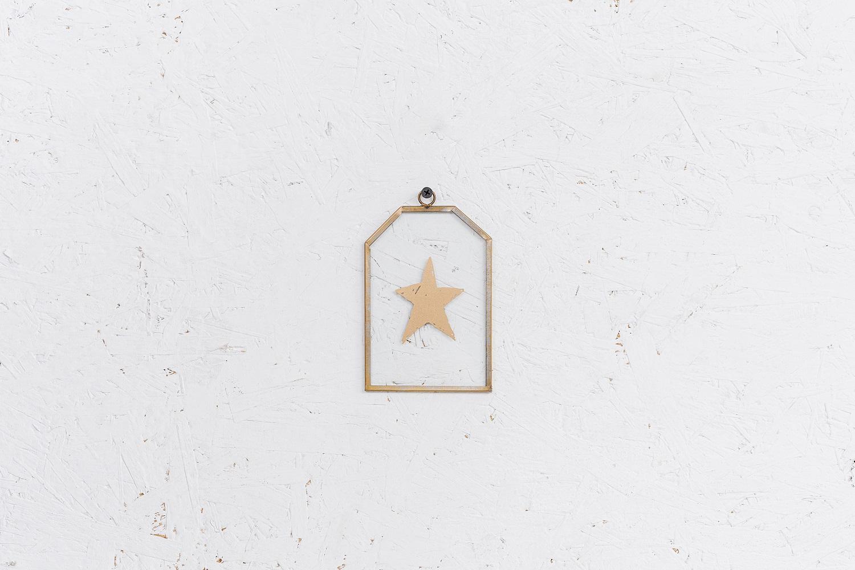 שלט זכוכית בינוני - כוכב (זהב)