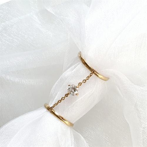 טבעת שרשרת כפולה- גולדפילד