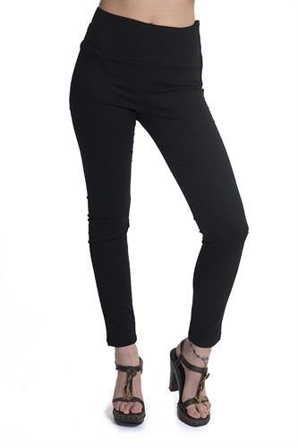 מכנס צמוד עם רוכסן בצד בצבע שחור