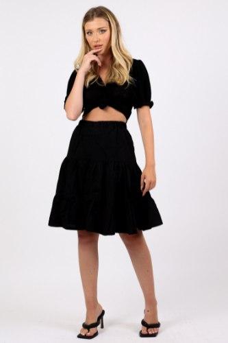 חצאית אמה לבן/שחור