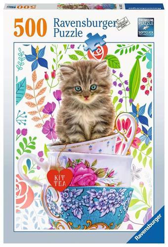 חתול בקערה פאזל 500 חלקים