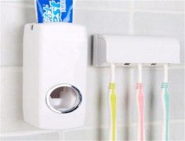 מתקן אוטומטי למשחת שיניים + מחזיק ל5 מברשות