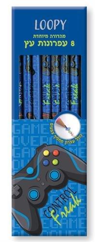 סט 8 עפרונות עץ גיימר