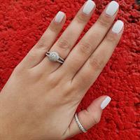 טבעת יהלומים │טבעת אירוסין מעוצבת 1.0 קראט יהלומים