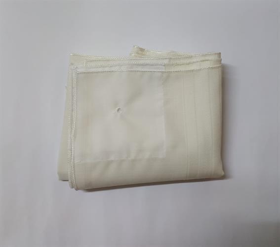 טלית קטן צמר מידה 7 פסים לבן