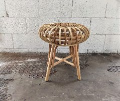שולחן צד/שרפרף במבוק - גדול