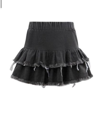 חצאית ג'ינס שחור מיני