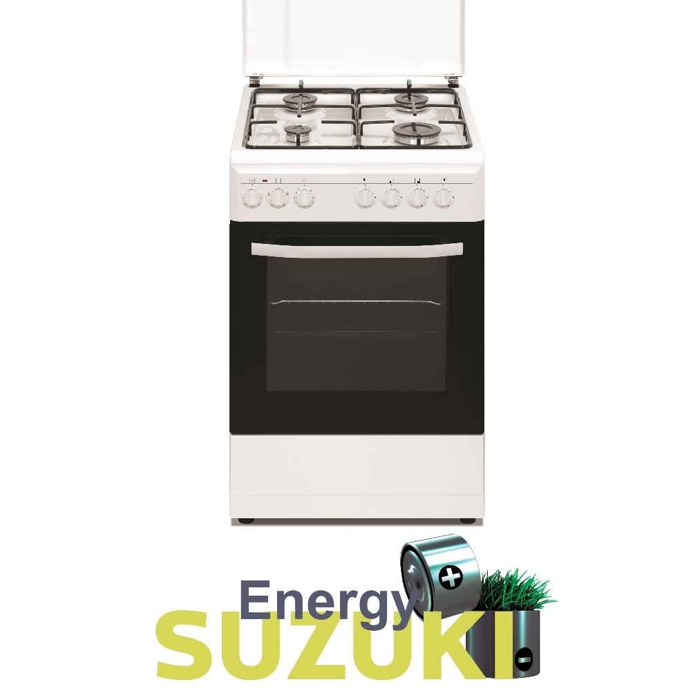 תנור משולב צר לבן SUZUKI ENERGY SZ5055W