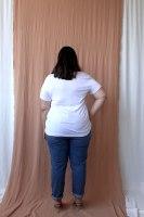 חולצת T SHIRT בילי לבן