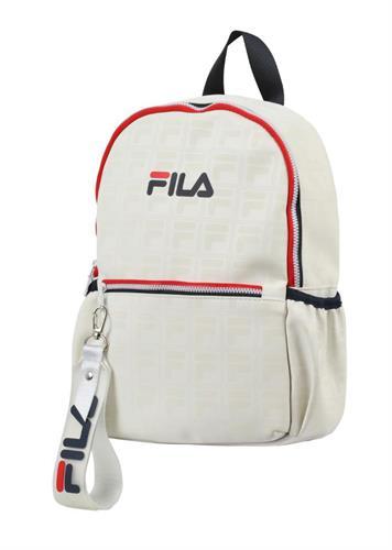 תיק בית ספר לבן - FILA - לוגו פטרן