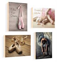 סט של 4 תמונות השראה מעוצבות לתינוקות, לסלון, חדר שינה, מטבח, ילדים - תמונות השראה בלט 51
