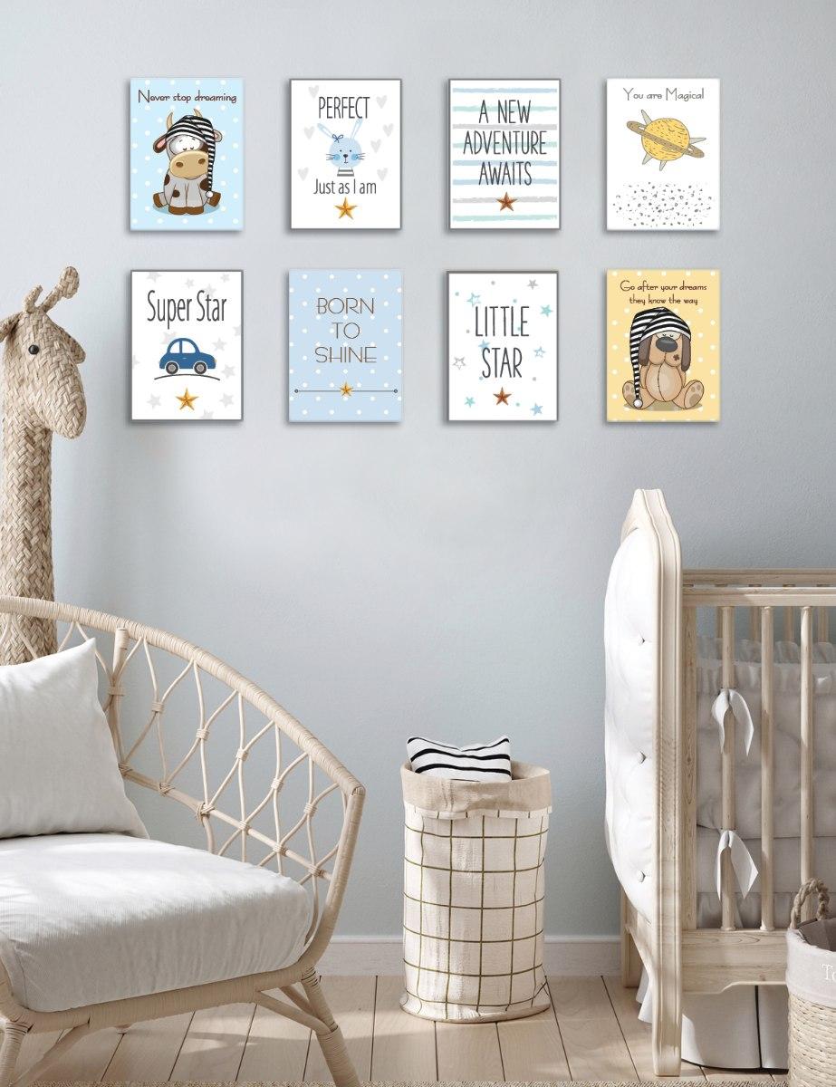 שמיניית תמונות השראה לחדר תינוקות וילדים דגם 804